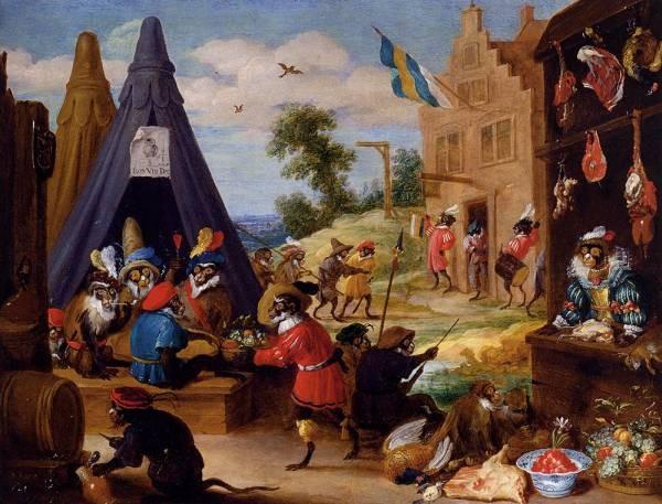 Teniers David A Festival Of Monkeys